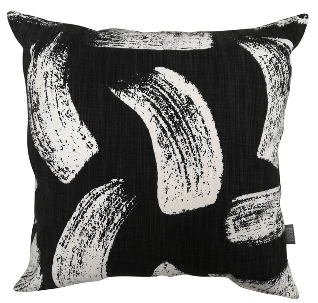 Brushstrokes Black Cushion Cover