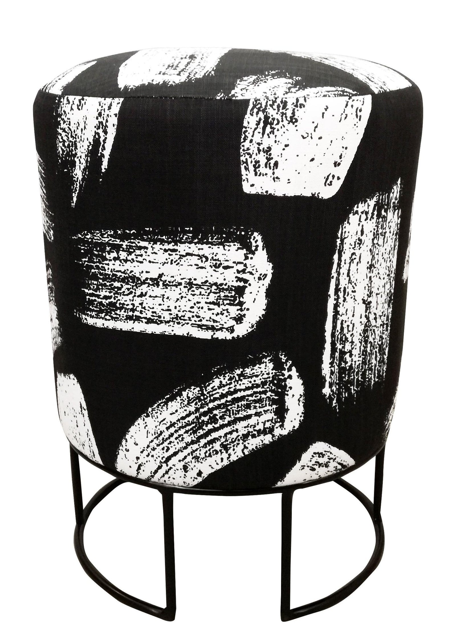 Undu Stool, Black Epoxy with Brushstrokes Black