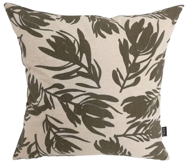 Conebush Taupe Cushion Cover