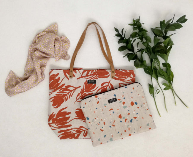 Conebush Terracotta Tote Bag