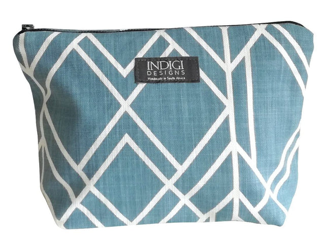 Deco Industrial Blue Cosmetic Bag