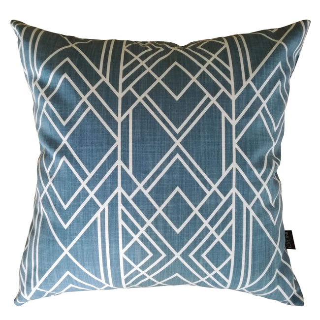 Deco Industrial Blue Cushion Cover