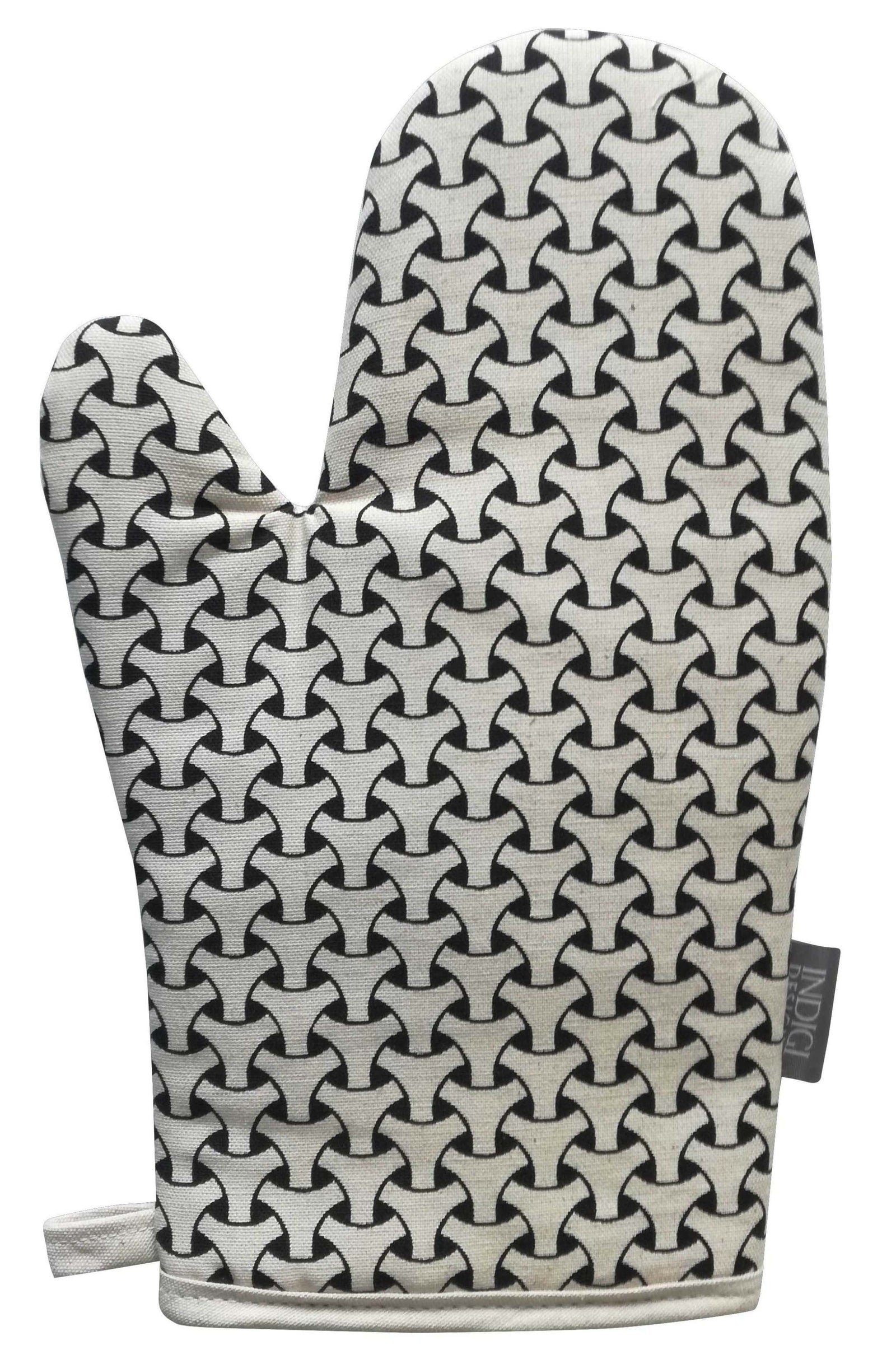 Dogon Weave Black Oven Glove