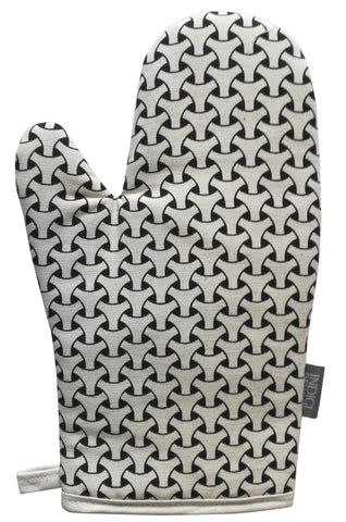 Birds Black Oven Glove