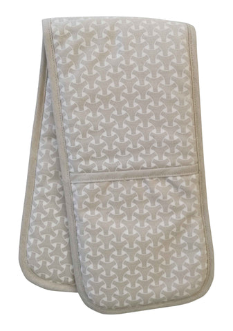 Facet Nude Pink Double Oven Glove