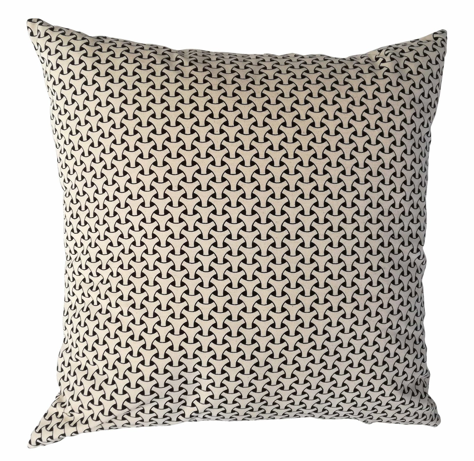 Dogon Weave Black Cushion Cover