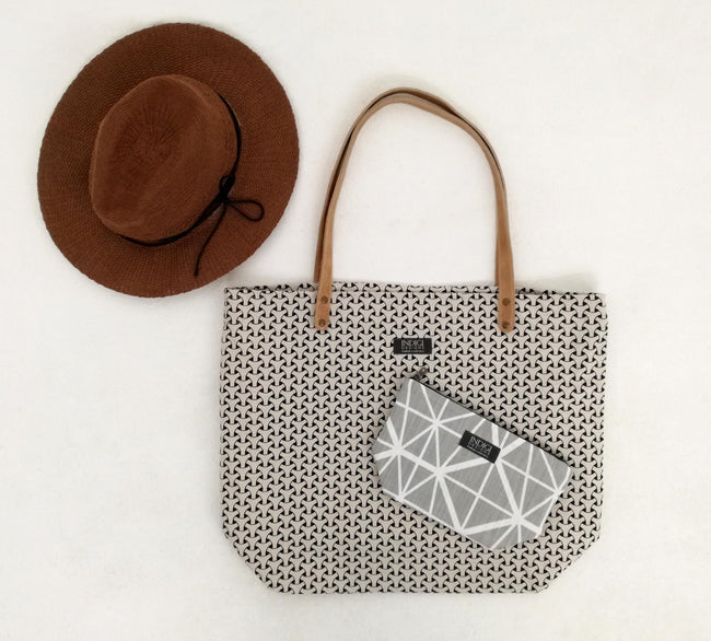 Dogon Weave Black Tote Bag