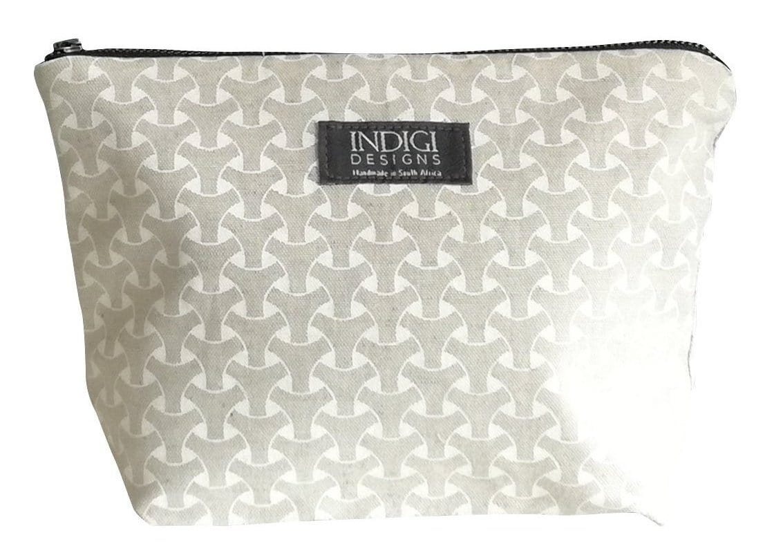 Dogon Weave White Cosmetic Bag
