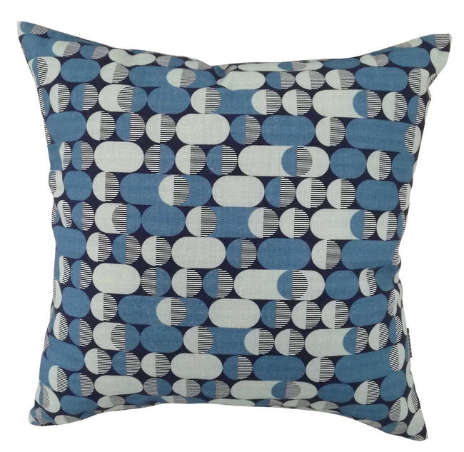 Digital Eclipse Industrial Blue Cushion Cover