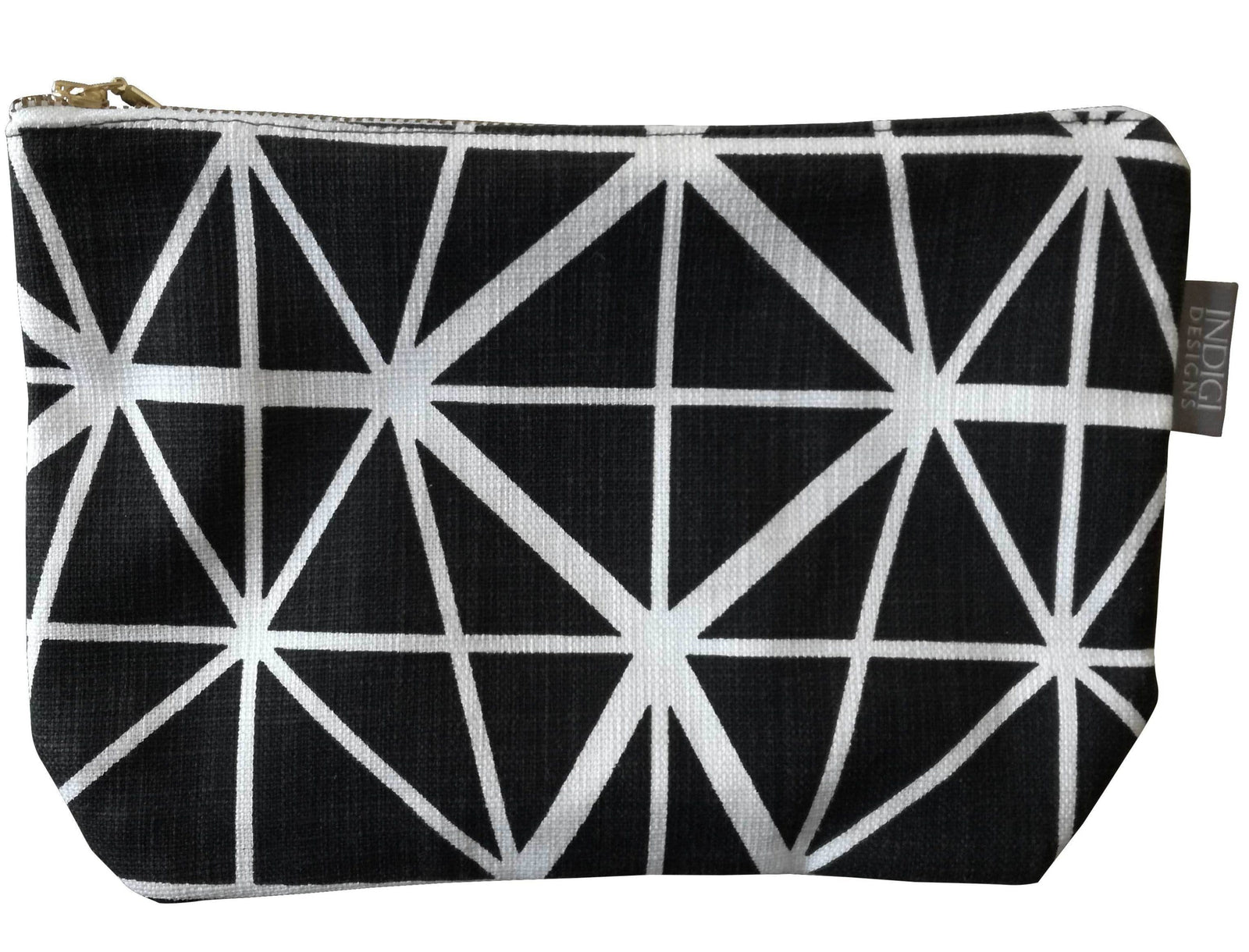 Facet Black Pouch Large