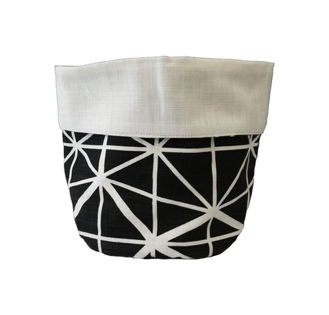 Dogon Weave Black Soft Bucket
