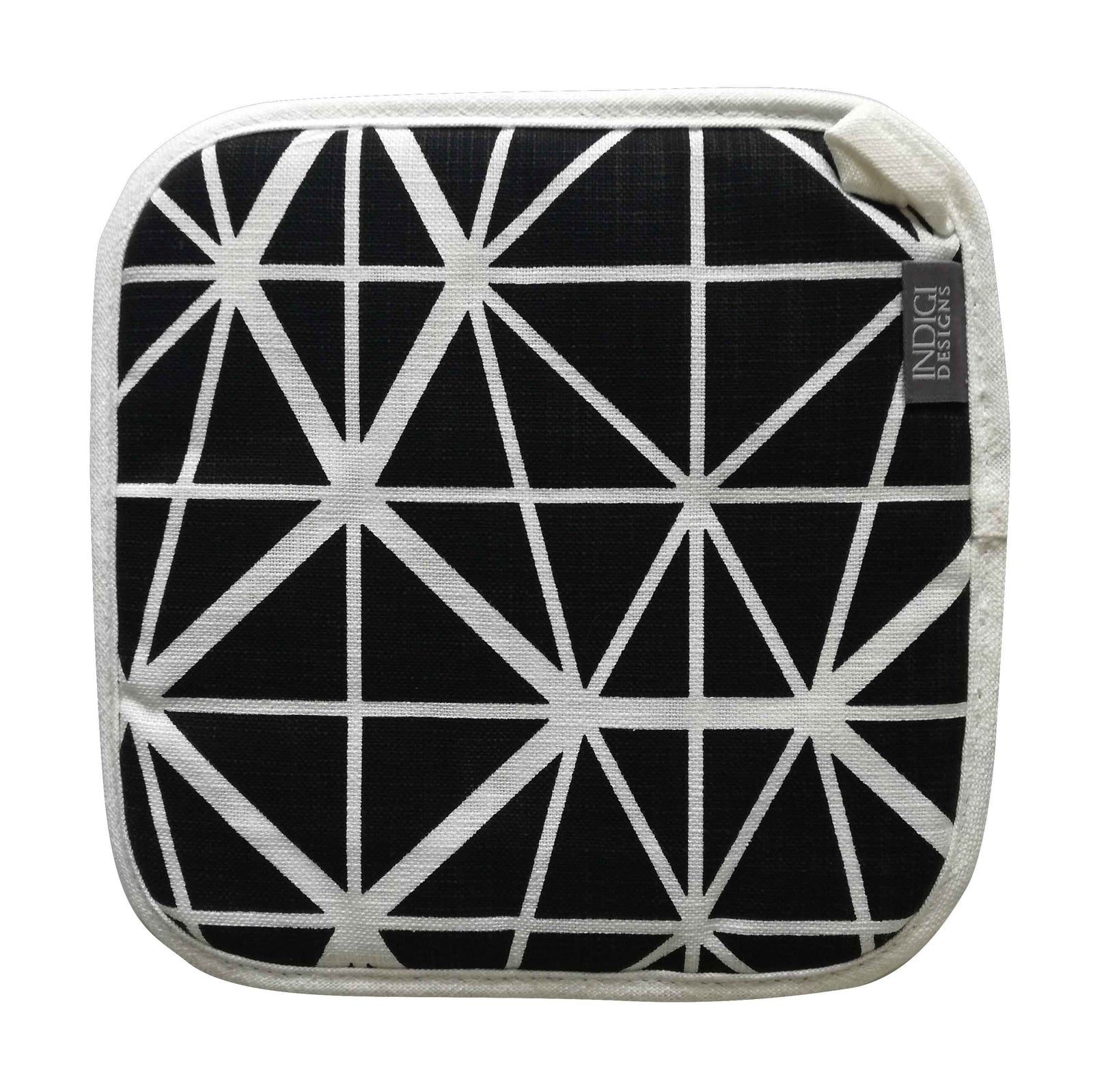Facet Black Pot Holder