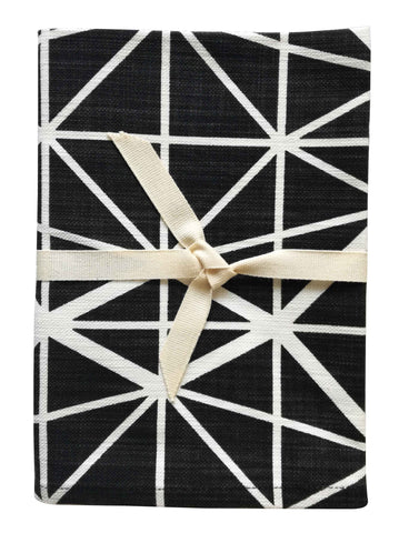 Bemba Blocks Black Tea Towel