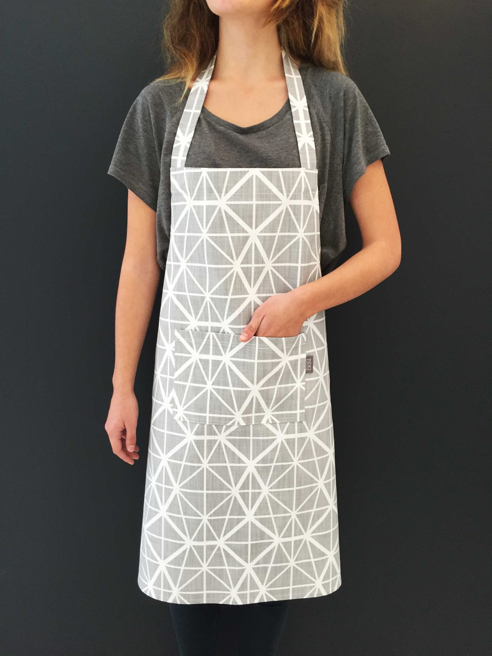 Facet Grey Apron