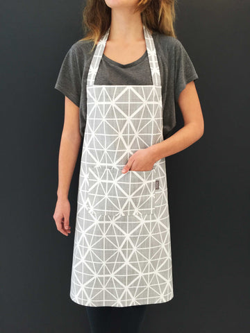 Facet Deep Red Apron
