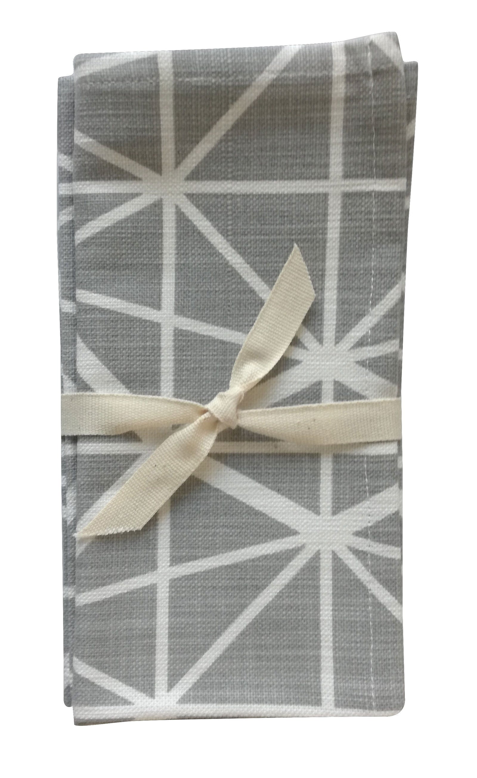 Facet Grey Napkin Set