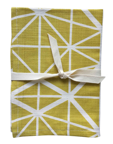 Dogon Weave White Tea Towel