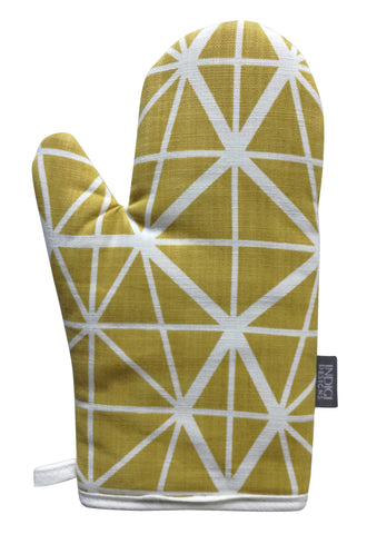 Henna Leaves Coral Oven Glove