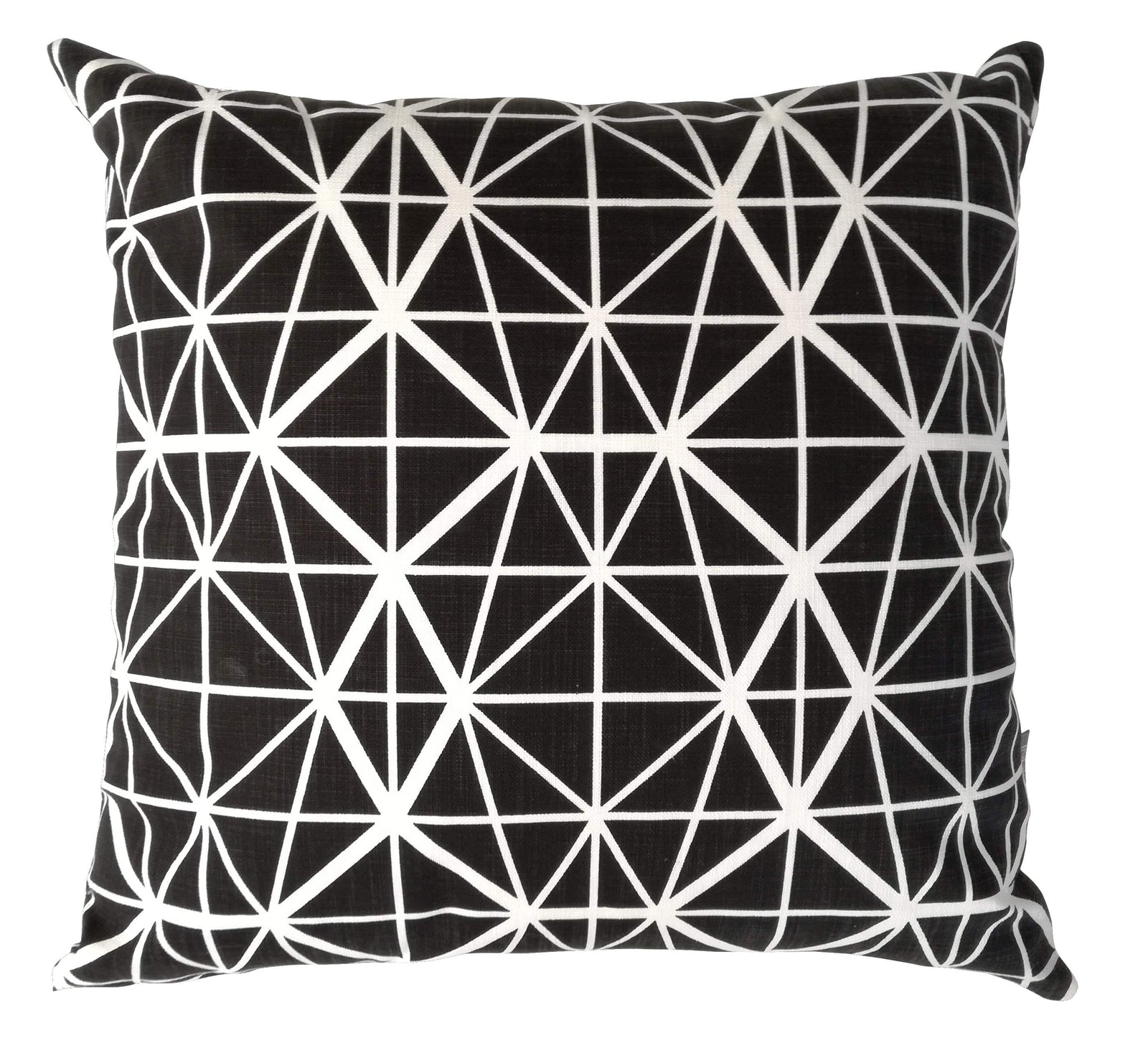 Facet Black Cushion Cover
