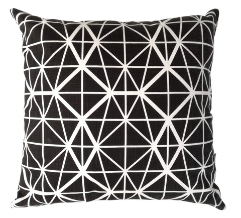 Lilium Black on Natural Cushion Cover