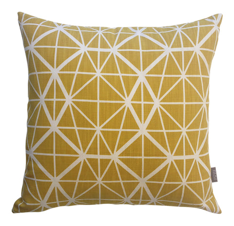 Bemba Blocks Ochre Cushion Cover