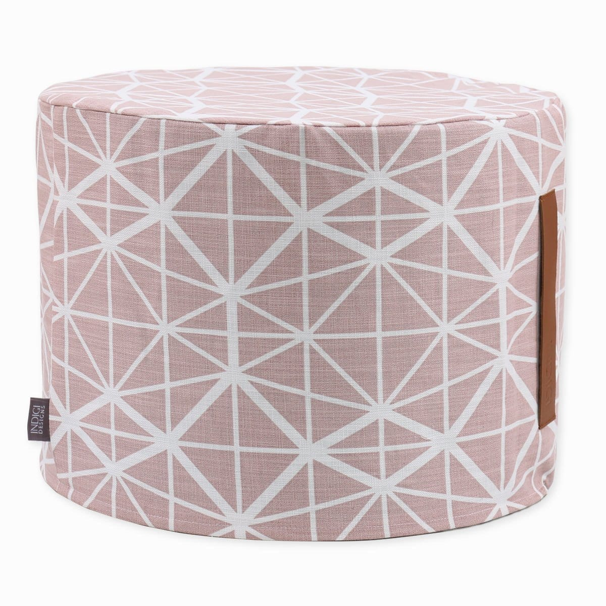 Facet Nude Pink Ottoman