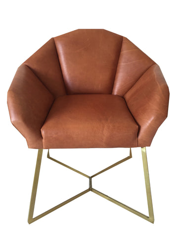 Fracture Armchair, Black Epoxy Legs with Shields Terracotta