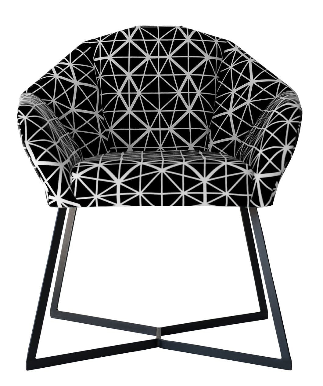 Fracture Armchair, Black Steel Legs with Facet Black