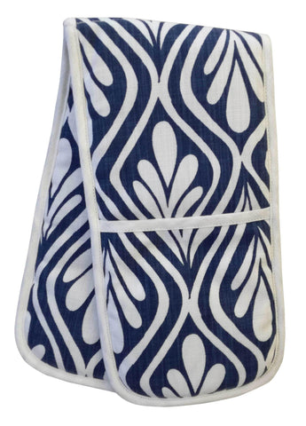 Birds White Double Oven Glove