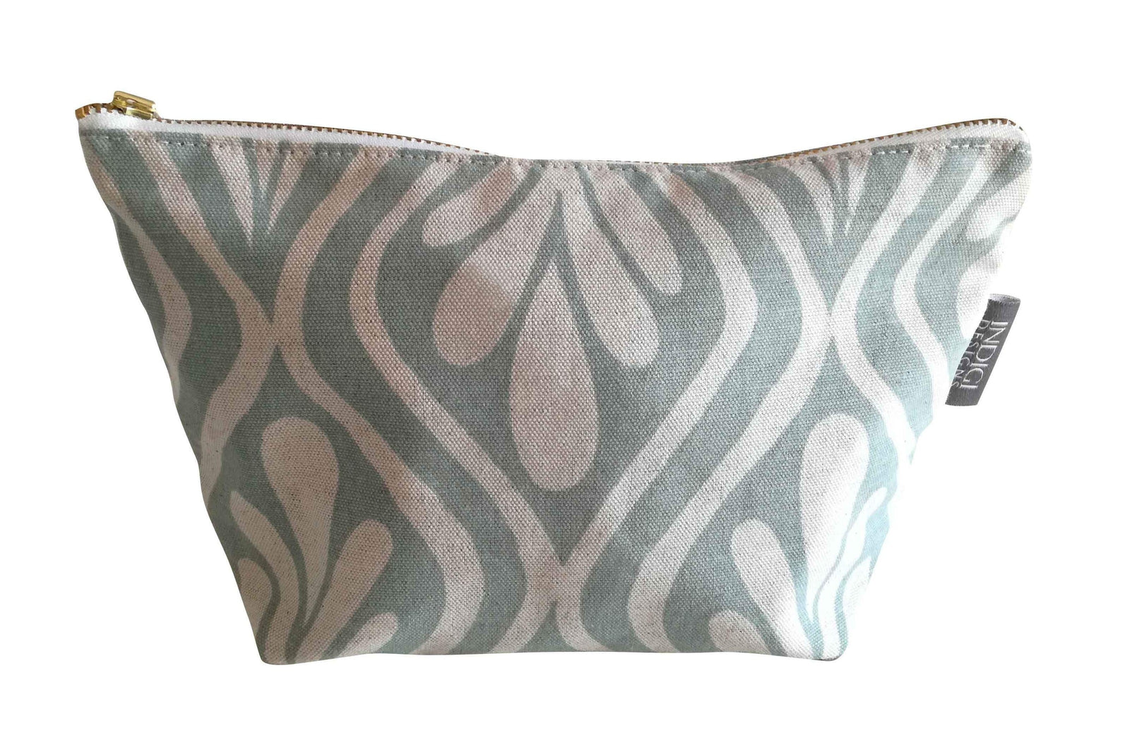 Henna Leaves Duck Egg Cosmetic Bag Large