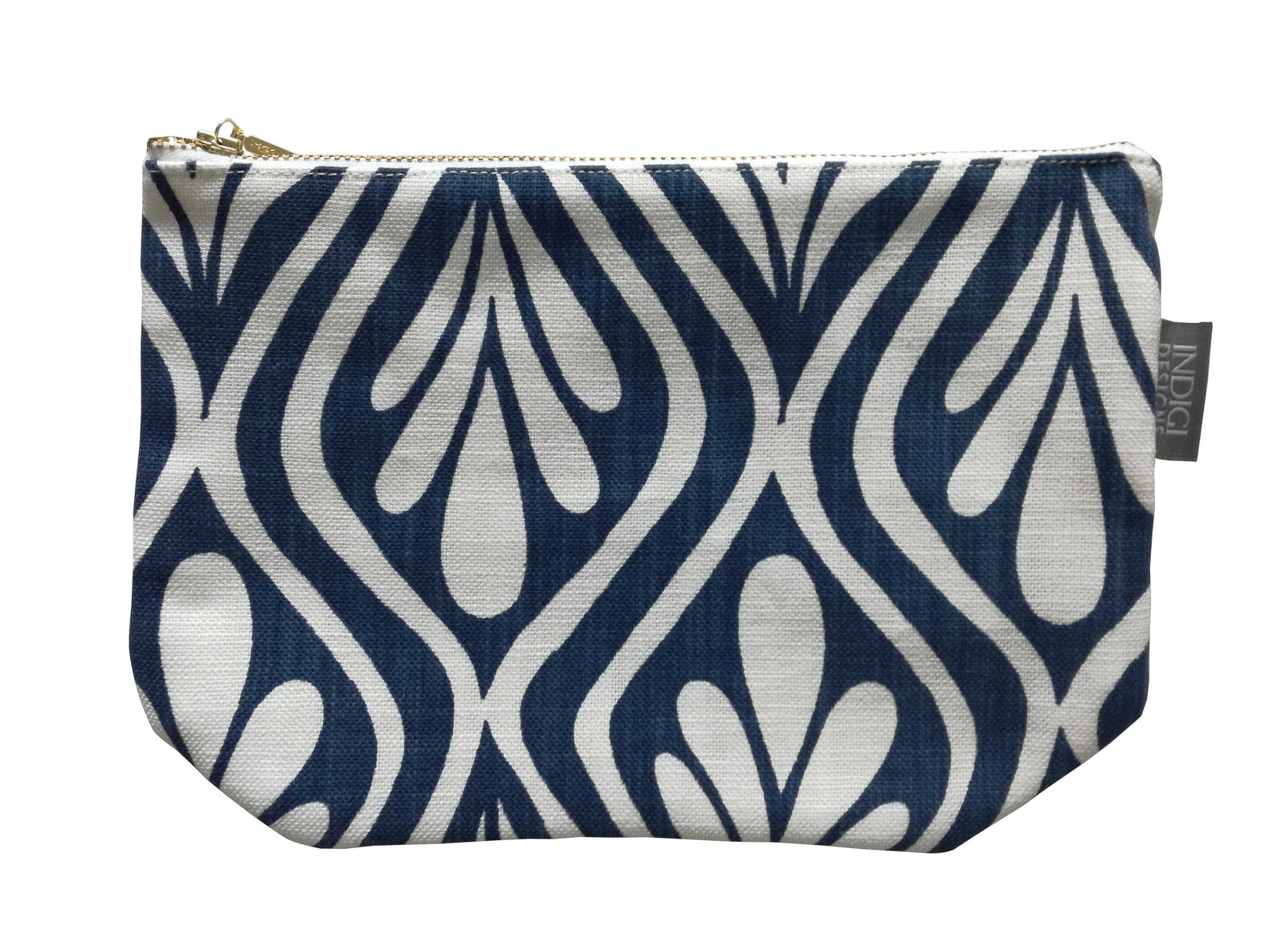 Henna Leaves Indigo Pouch Large