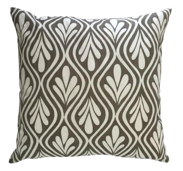 Henna Leaves Taupe Cushion Cover