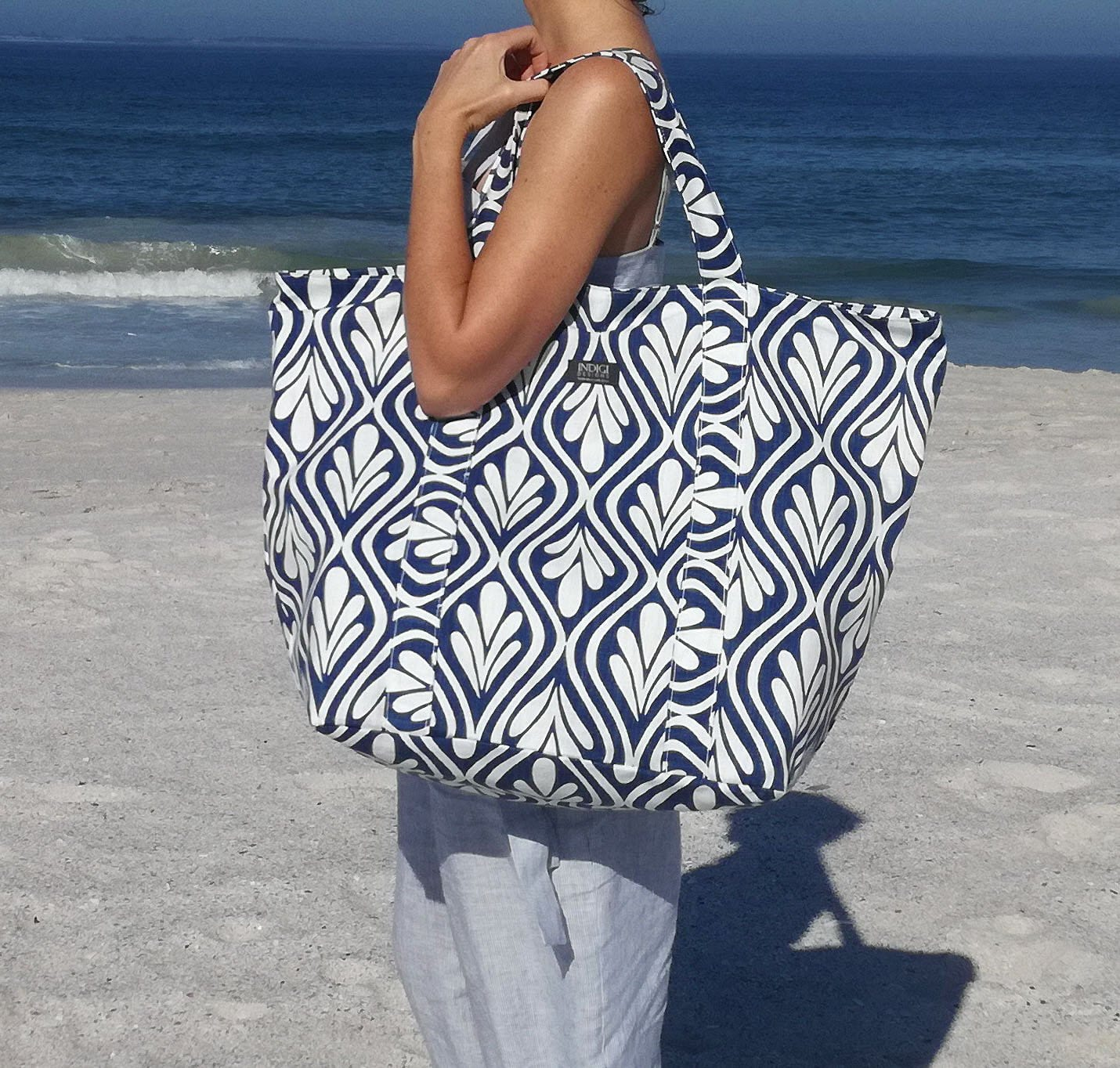 Beach Bag with Waterproof Lining - Various Colours