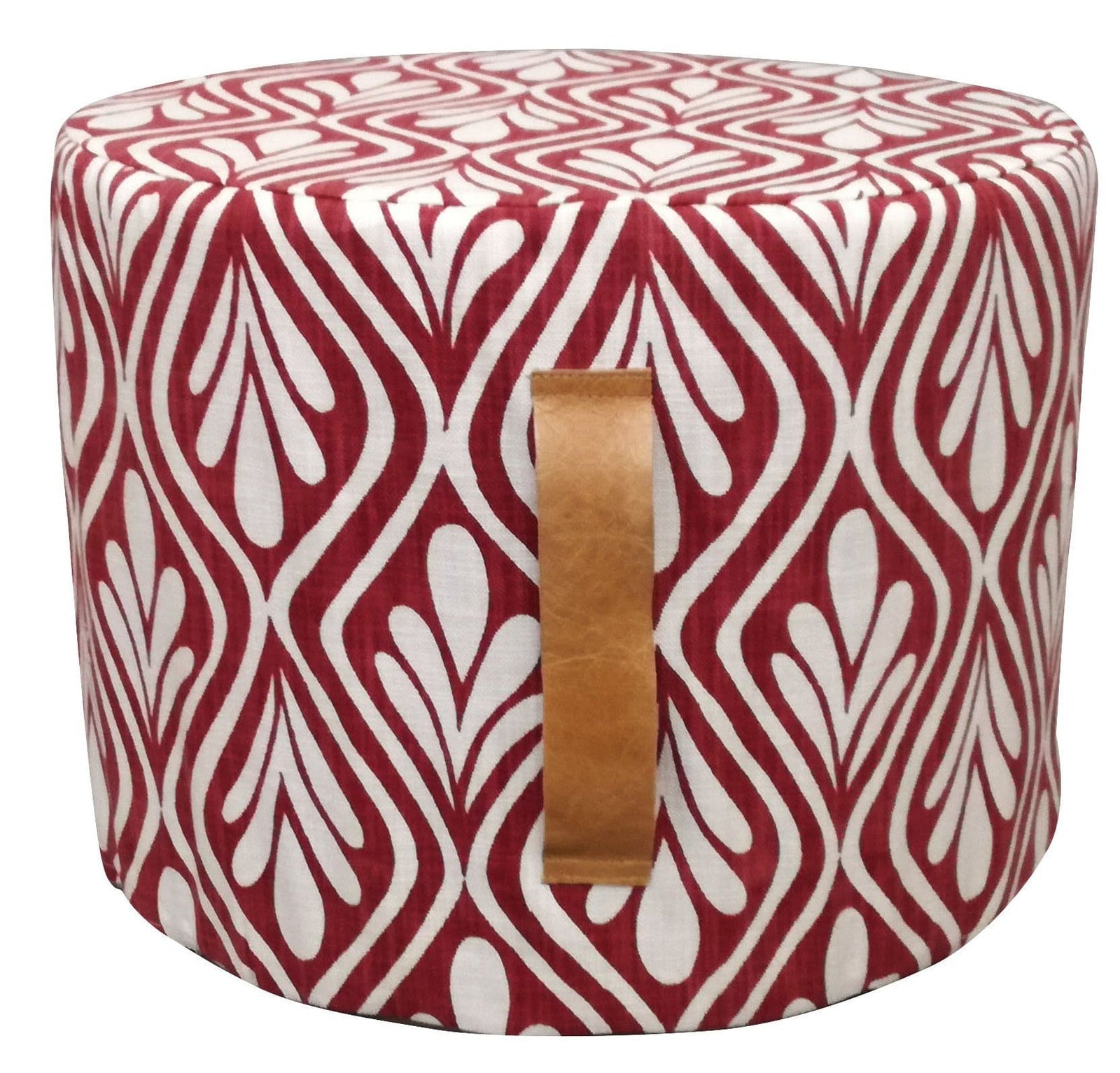 Henna Leaves Deep Red Ottoman