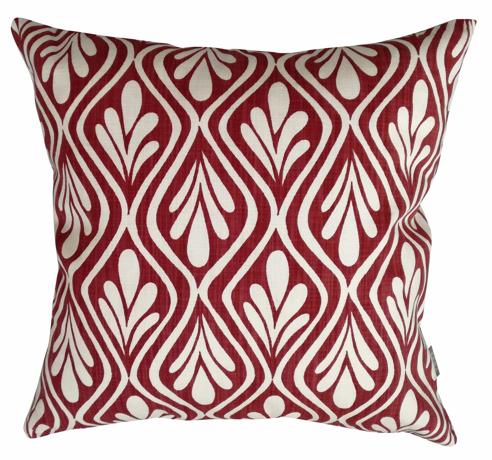 Henna Leaves Deep Red Cushion Cover