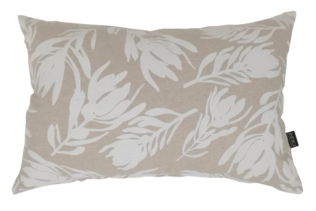 Oblong Conebush White Cushion Cover