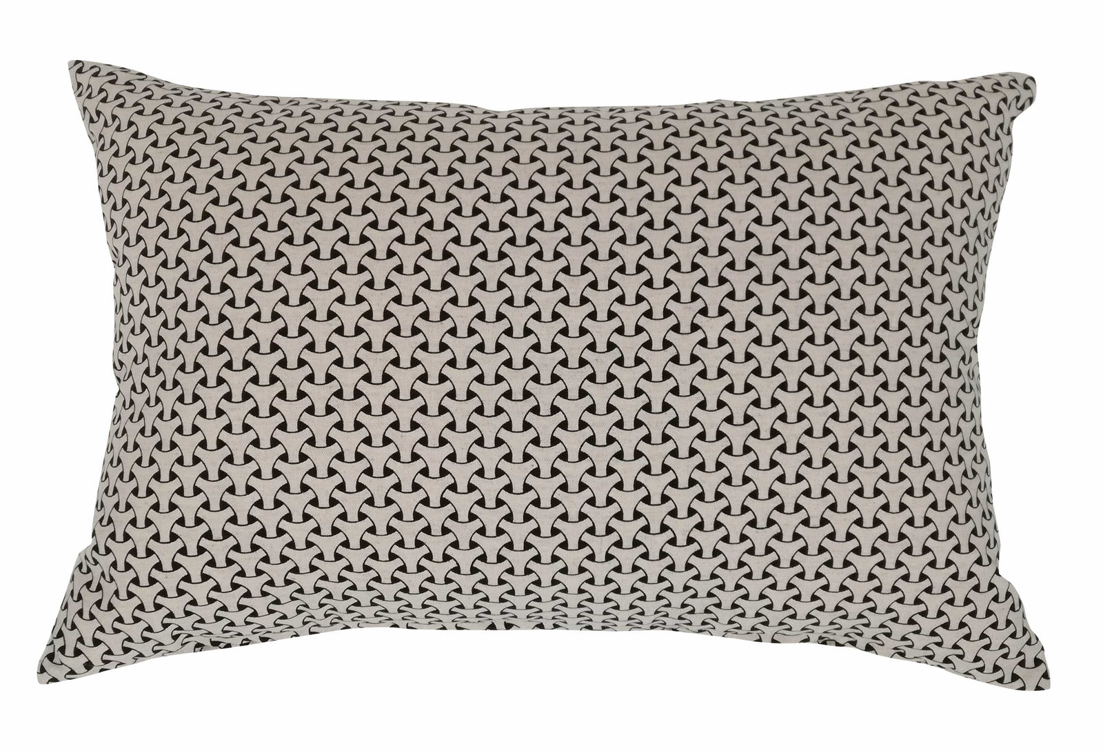 Oblong Dogon Weave Black Cushion Cover