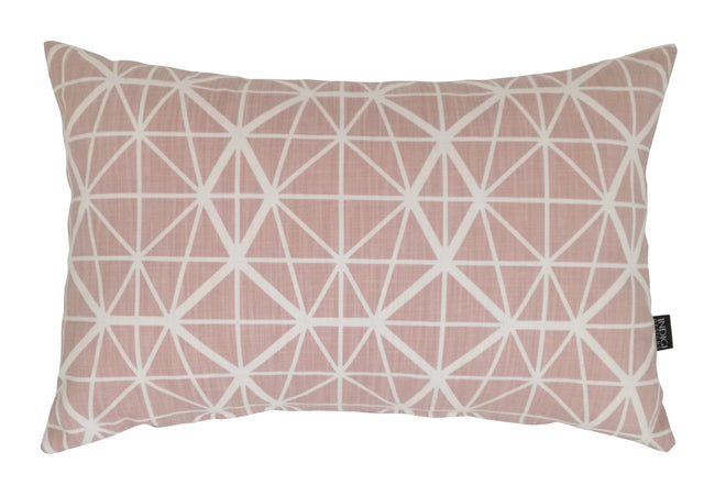 Oblong Facet Nude Pink Cushion Cover