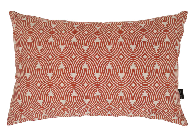 Oblong Shields Terracotta Cushion Cover
