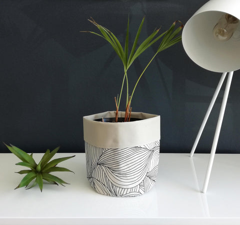 Digital Marble Charcoal Soft Bucket