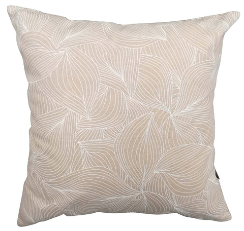Lilium Rose Gold Foil on Nude Pink Cushion Cover