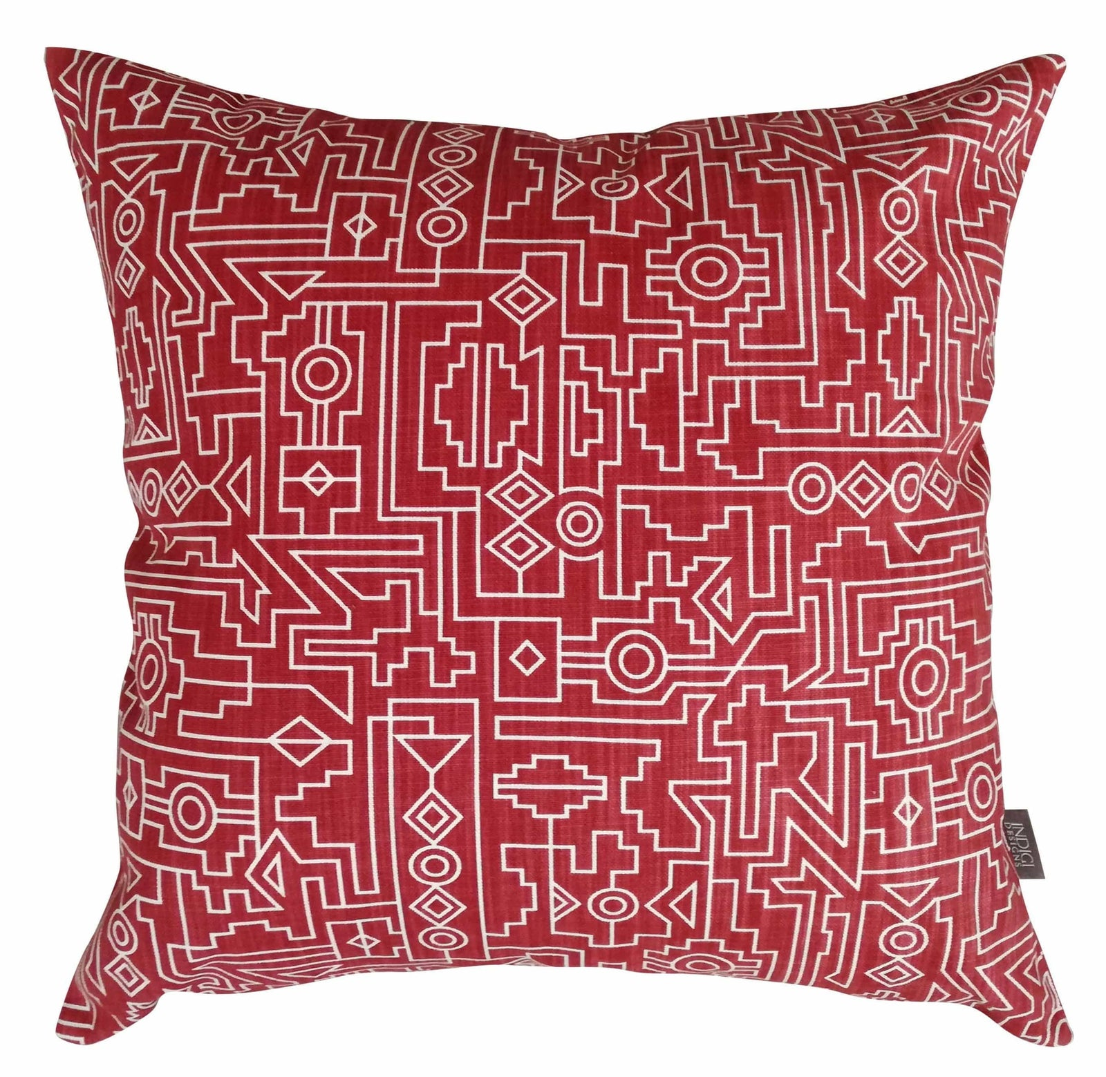 Ndemetric Red Cushion Cover