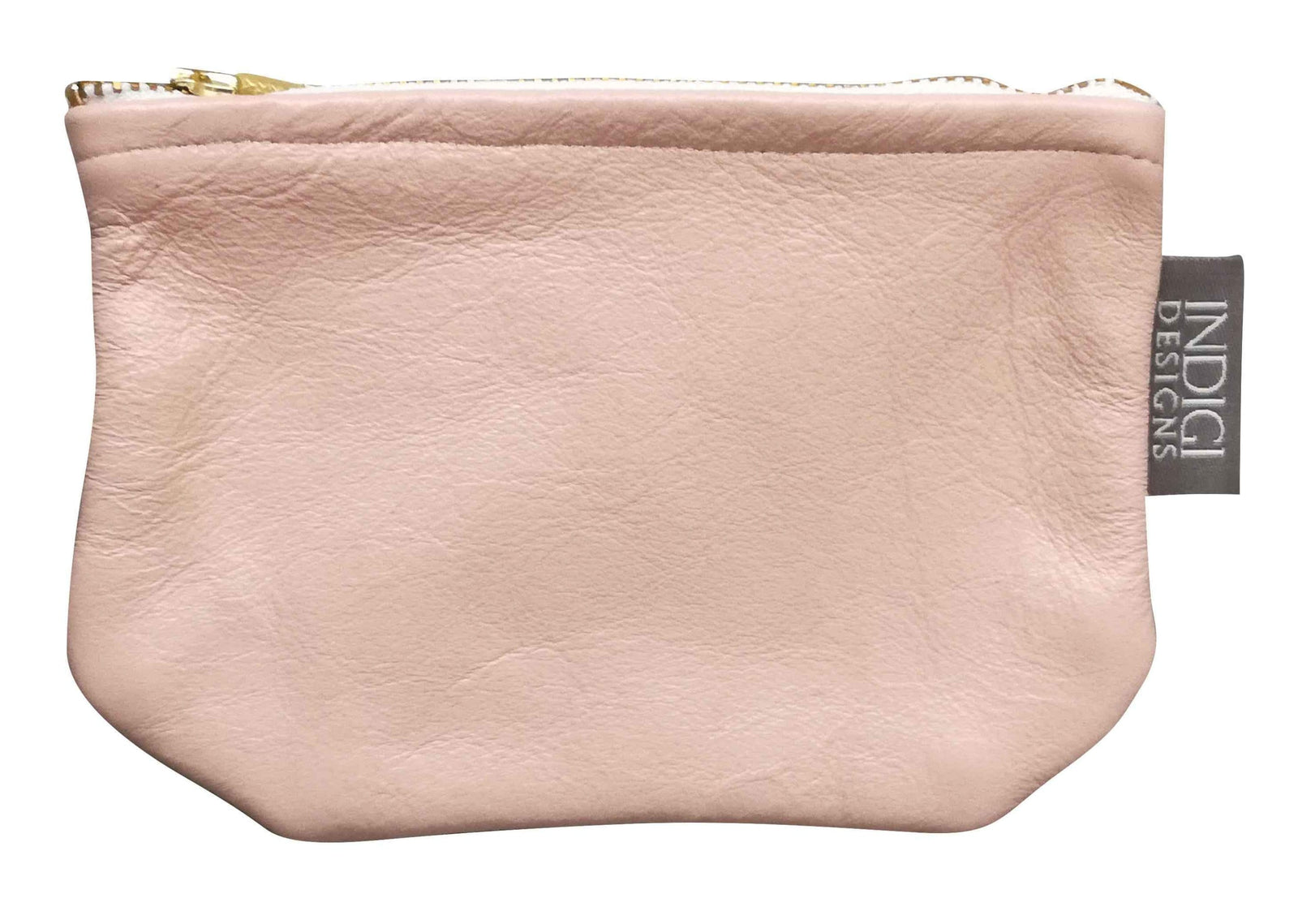 Nude Pink Leather Pouch Small