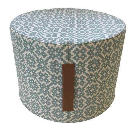 Digital Marble Charcoal Ottoman