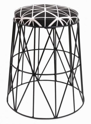 Undulate Stool, Black Epoxy with Bemba Blocks Charcoal