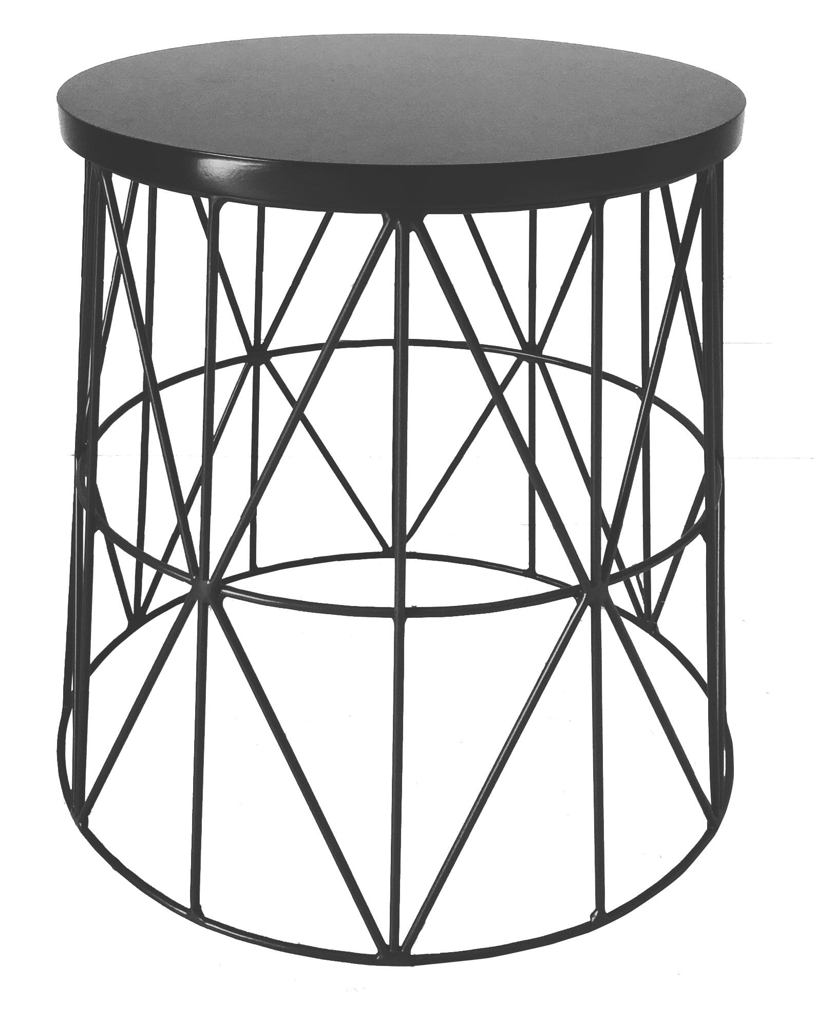 Pythag Side Table, Black Epoxy with Black Sprayed Top