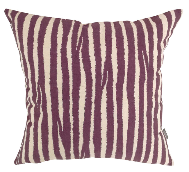 Safara Stripe Mauve Cushion Cover