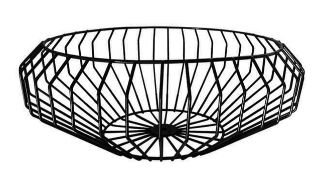 Segment Wire Bowl in Black