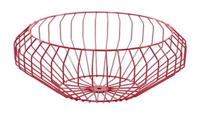 Segment Wire Bowl in Red