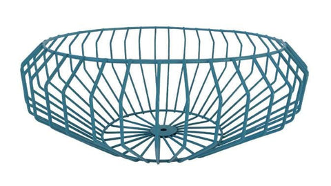 Segment Wire Bowl in Teal
